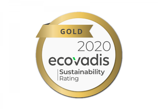 NJC awarded Gold EcoVadis Medal