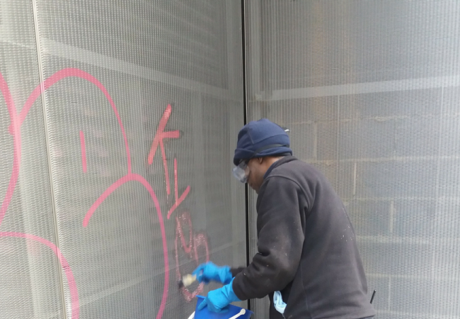 NJC acts quickly to remove Graffiti