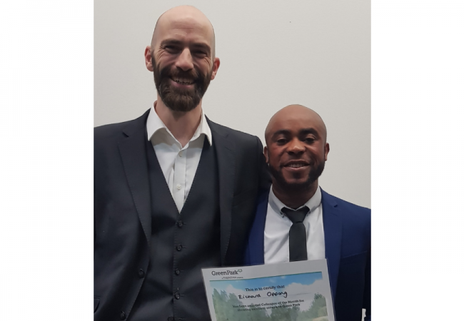 Green Park Award for Richard Oppong